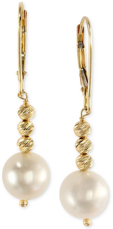 Effy Cultured Freshwater Pearl Drop Earrings in 14k Gold (8-1/2mm)