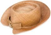 Ermanno Scervino brooch detail panama hat - women - Vegetable Fibres - M