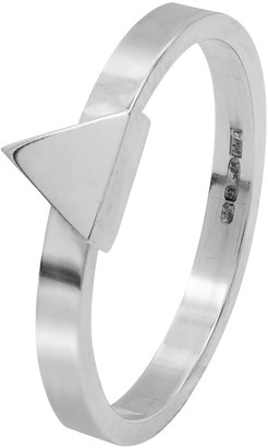 Edge Only Triangle Stacking Ring Silver