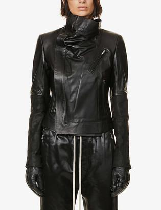 Rick Owens Larry padded leather jacket