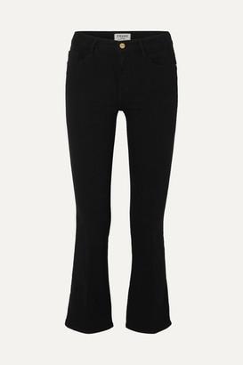 Frame Le Crop Mini Mid-rise Bootcut Jeans - Black
