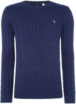 Gant Crew Neck Cable Knit Jumper