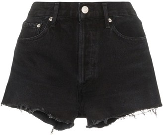 A Gold E Agolde distressed denim shorts