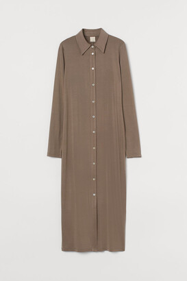 H&M Calf-length Dress - Beige