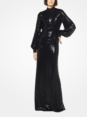 Michael Kors Sequined Stretch Matte-Jersey Gown