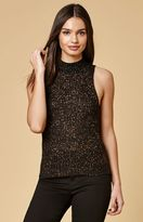 MinkPink Luxe Shimmer Sweater Tank Top