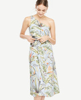 Ann Taylor Tropical One Shoulder Dress