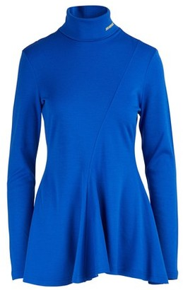 Calvin Klein Pleated wool jersey top