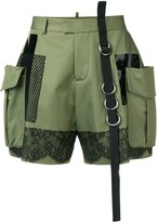 DSQUARED2 high-waisted cargo shorts