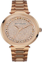 Wittnauer Womens Crystal-Accent Rose-Tone Stainless Steel Bracelet Watch WN4027