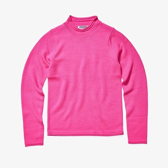 Opening Ceremony Long Sleeve Fluo Knit Sweater (Fluo Pink) Women's Clothing