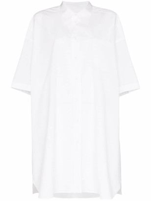 Maison Margiela Oversized Cotton-Poplin Shirt Dress