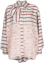 Antonio Marras checked shirt with lace panels