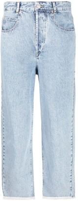 Isabel Marant Frayed-Edge Cropped Jeans