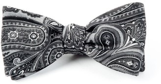 Tie Bar Empire Paisley Charcoal Bow Tie