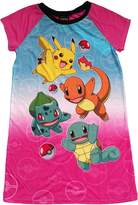 AME Sleepwear Pokemon Pikachu & Friends Big Girls Nightgown
