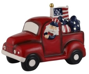 "Mr. Christmas 10"" Lit Patriotic Truck"