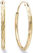 Giani Bernini 18k Gold over Sterling Silver Earrings, Hoop Earrings