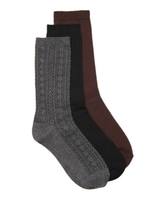 Nine West Cable Womens Crew Sock - 3 Pack
