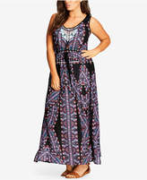 City Chic Trendy Plus Size Biba Printed Maxi Dress