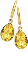 Kiki McDonough Eternal 18k Gold Citrine Pear-Drop Earrings