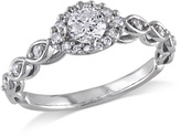 1/2 CT. T.W. Diamond Marquise Frame Engagement Ring in 10K White Gold