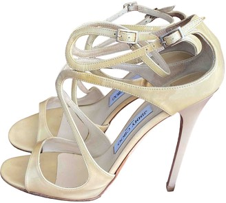 Jimmy Choo Lance Beige Patent leather Sandals