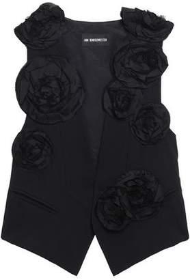 Ann Demeulemeester Floral-appliqued Wool-twill Vest