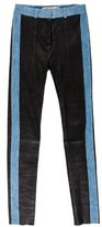 Acne Studios Denim-Trimmed Leather Pants w/ Tags