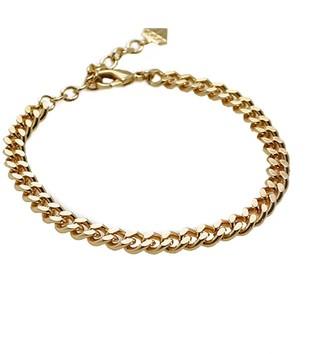Wanderlust + Co Romee Xl Curb Chain Gold Bracelet