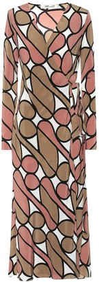 Diane von Furstenberg Tilly printed silk midi wrap dress
