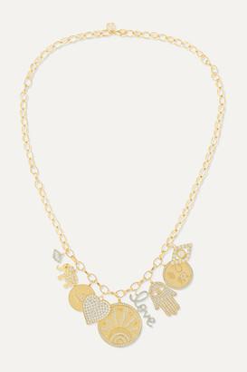Sydney Evan 14-karat Gold Diamond Necklace