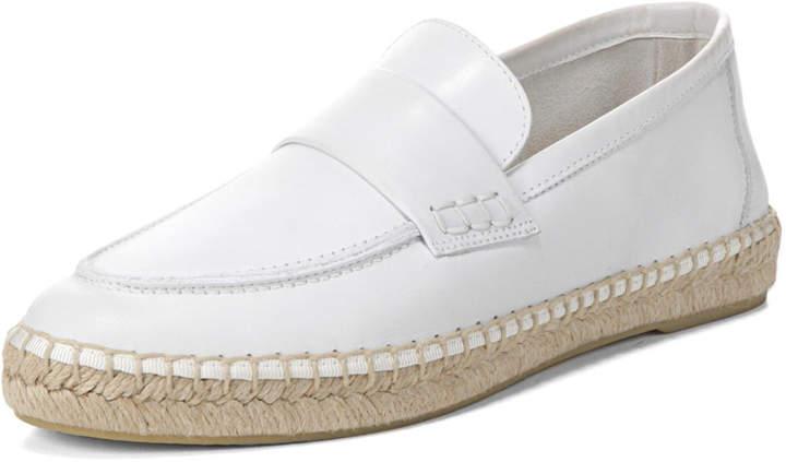 Vince Daria Leather Flat Espadrille Loafer