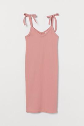 H&M MAMA Ribbed Dress - Pink