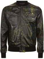 Philipp Plein My Last Leather Bomber Jacket