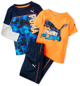 Puma Toddler Boys) 3-Piece Graphic Tee & Track Pants Set