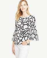 Ann Taylor Petite Leafed Bell Sleeve Sweater