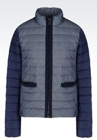 Armani Jeans Down Jacket In Chambray