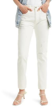 Levi's 501(R) Distressed High Waist Skinny Jeans