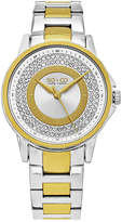 SO & CO NY Womens Madison Two Tone Stainless Steel Bracelet Casual Crystal Outer Dial Quartz Watch J159P71