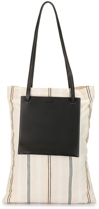 Jil Sander Striped Tote Bag
