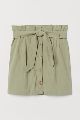 H&M Crepe paper bag skirt