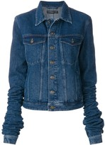 Y/Project denim jacket with exaggerated sleeves
