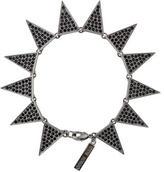 Eddie Borgo Pavé Crystal Flat Triangle Link Bracelet