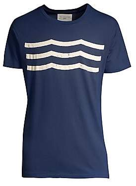 Sol Angeles Men's Heathered Wave Patterned Tee