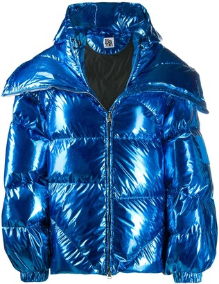 Bacon Double B metallic puffer jacket