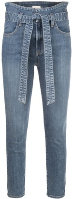 Alice + Olivia Good Wrap high-rise skinny jeans