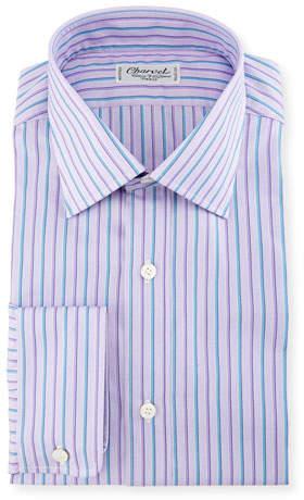 Charvet Alt-Striped Dress Shirt