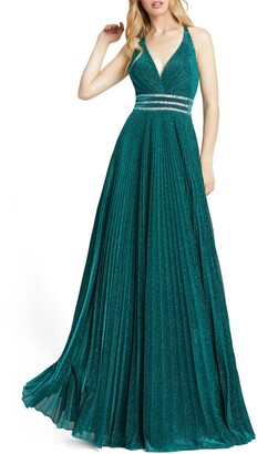 Mac Duggal Embellished Sparkle A-Line Gown