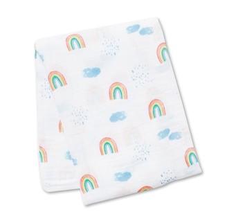 Lulujo - Swaddle Blanket Muslin Cotton - Rainbow Sky